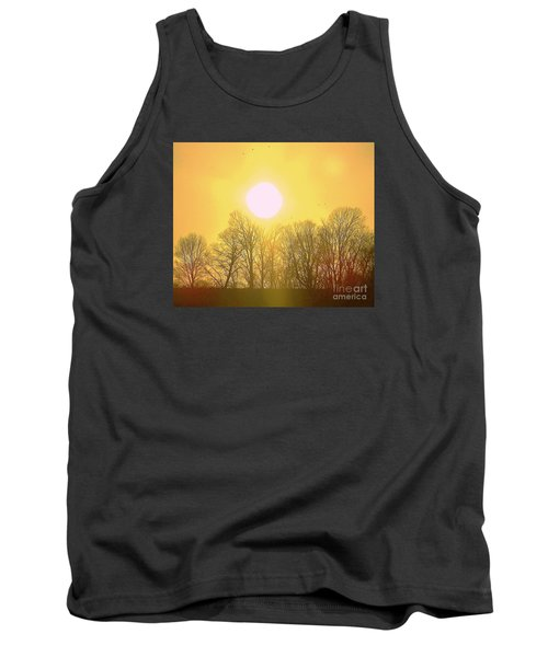 Sunset Yellow Orange Tank Top by Shirley Moravec