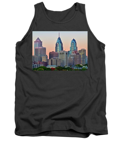 Tank Top featuring the photograph Sunsets Glow In Philly by Frozen in Time Fine Art Photography