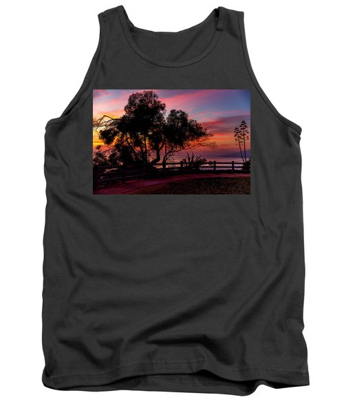 Sunset Silhouettes From Palisades Park Tank Top