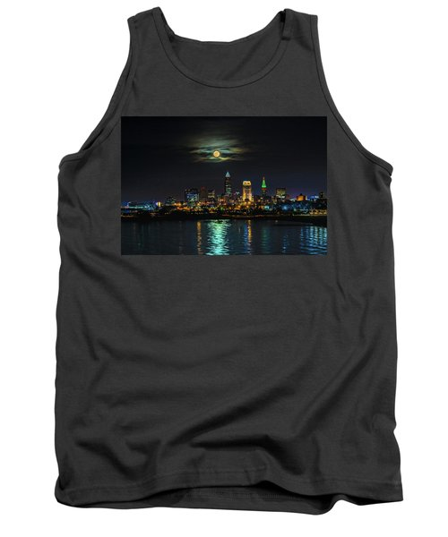 Super Full Moon Over Cleveland Tank Top