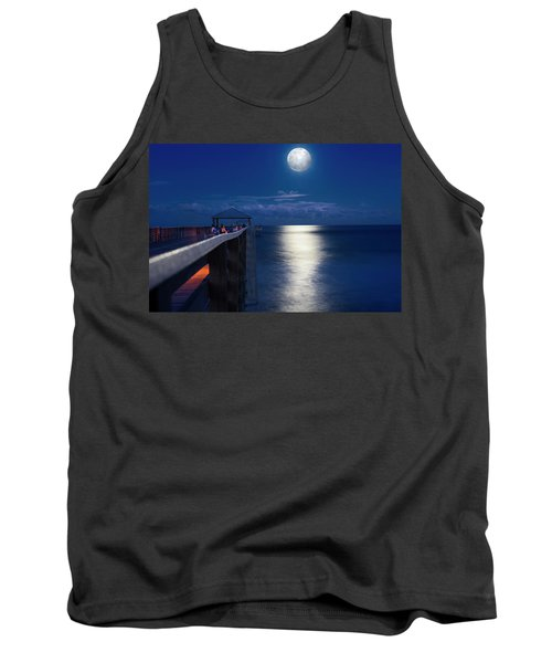 Tank Top featuring the photograph Super Moon At Juno by Laura Fasulo