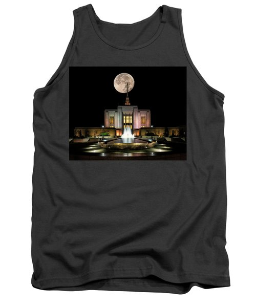 Super Moon At Ogden Lds Temple Tank Top