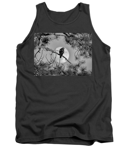 Super Moon Hawk Tank Top by Kevin Munro
