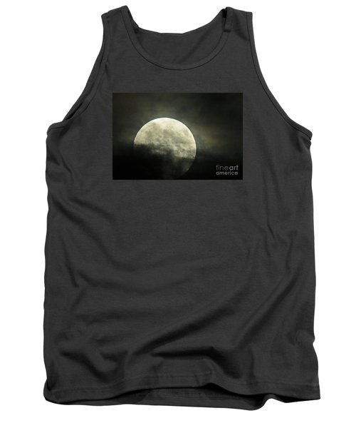 Super Moon In Clouds Tank Top