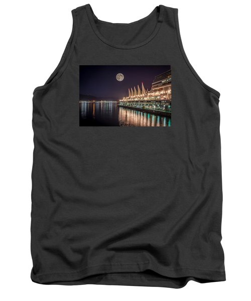 Tank Top featuring the photograph Super Moon Over Canada Place by Sabine Edrissi