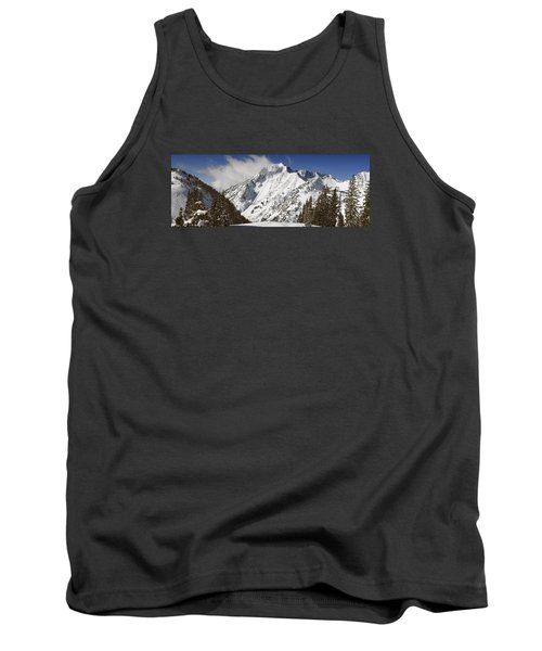 Superior Peak Wasatch Mountains Utah Panorama Tank Top