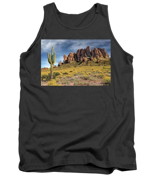 Tank Top featuring the photograph Superstition Mountains Saguaro by James Eddy