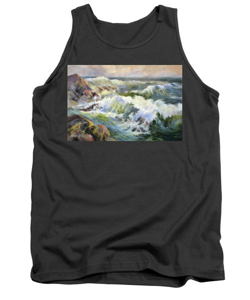 Surf Action Tank Top by Rae Andrews