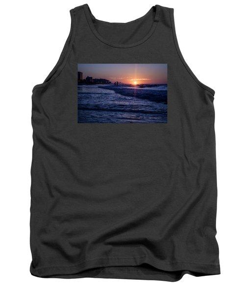 Surf Fishing At Sunrise Tank Top