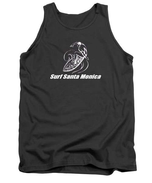 Surf Santa Monica Tank Top by Brian's T-shirts