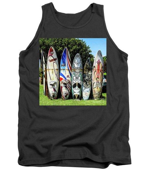 Surfboard Hana Maui Hawaii Tank Top by Peter Dang