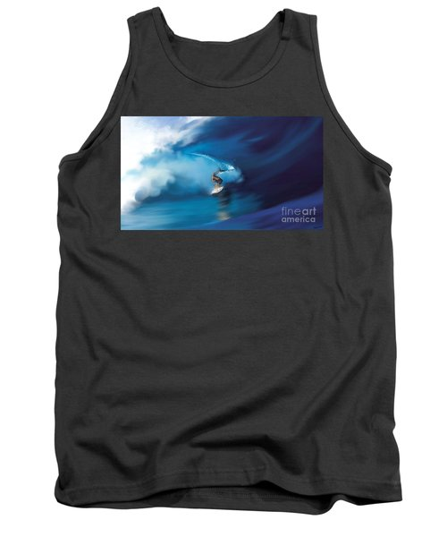 Tank Top featuring the digital art Surfers Playground by Anthony Fishburne