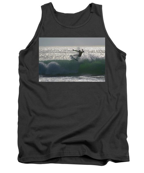 Surfing The Light Tank Top by Thierry Bouriat