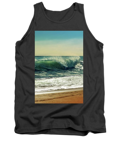 Tank Top featuring the photograph Surf's Up by Laura Fasulo