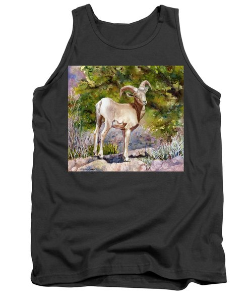 Tank Top featuring the painting Surprised On The Trail by Anne Gifford