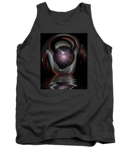 Tank Top featuring the digital art Surreal Reflections by Mario Carini