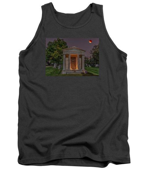 Swallow Mausoleum Under The Blood Moon Tank Top by Stephen  Johnson