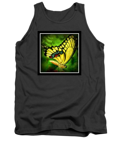 Tank Top featuring the pastel Swallowtail by Antonia Citrino
