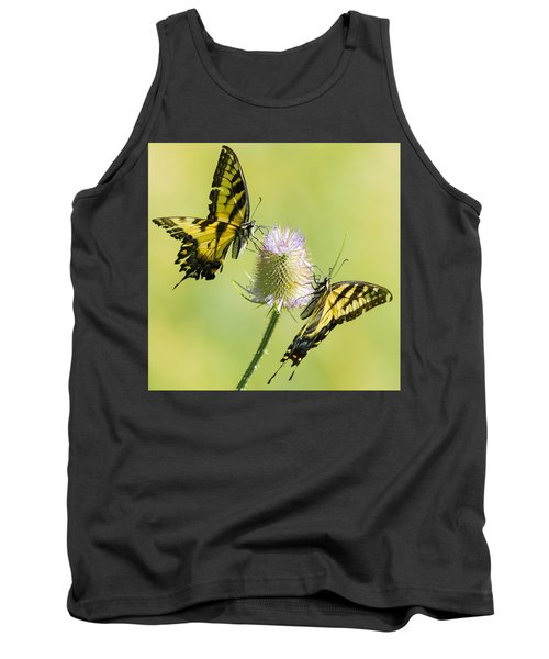 Swallowtails On Thistle  Tank Top
