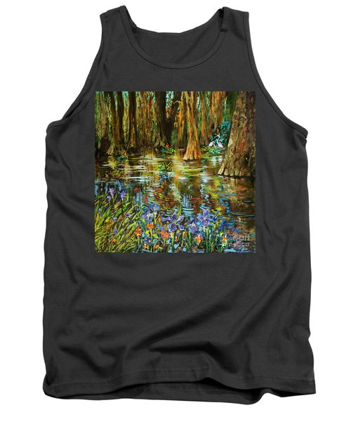 Swamp Iris Tank Top by Dianne Parks