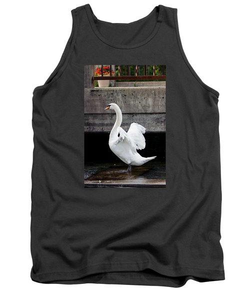 Swan At The Bridge Tank Top