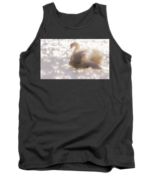 Swan Of The Glittery Early Evening Tank Top