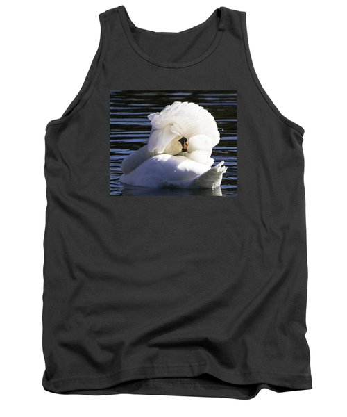 Tank Top featuring the photograph Swan Prince by Cathy Donohoue