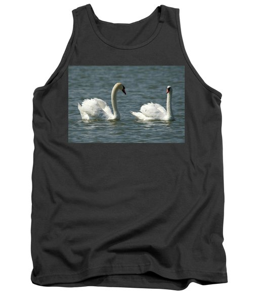 Swans On Lake  Tank Top