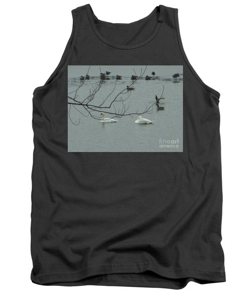 Swans With Geese Tank Top