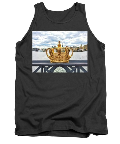 Swedish Royal Crown On A Bridge In Stockholm Tank Top by GoodMood Art