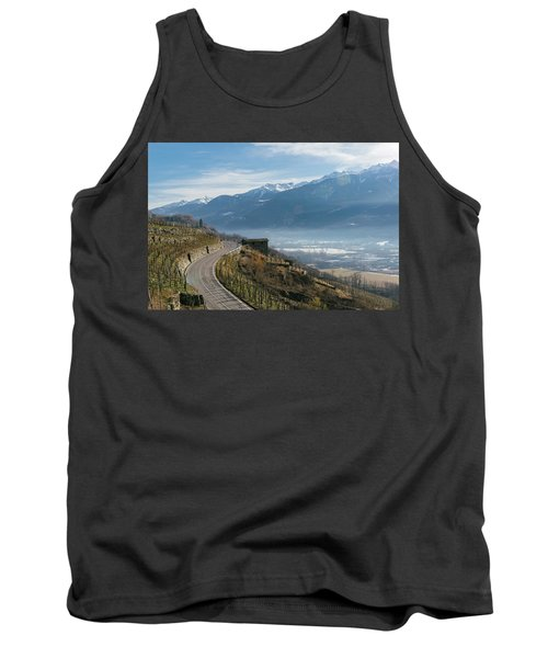 Swerving Road In Valtellina, Italy Tank Top