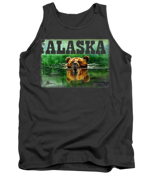 Swiming Grizzly Shirt Tank Top