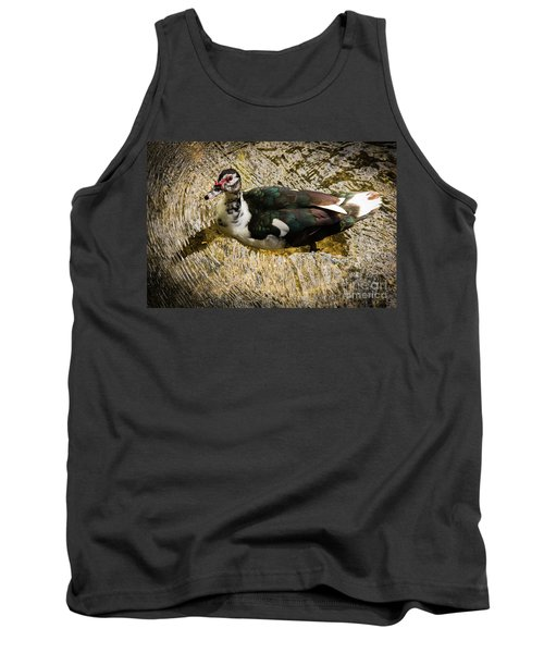 Swimming In Gold Wildlife Art By Kaylyn Franks Tank Top