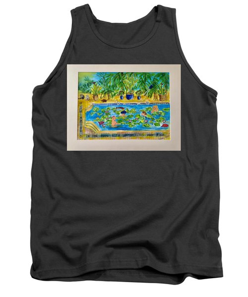 Swimming With Waterlilies And Fish Tank Top