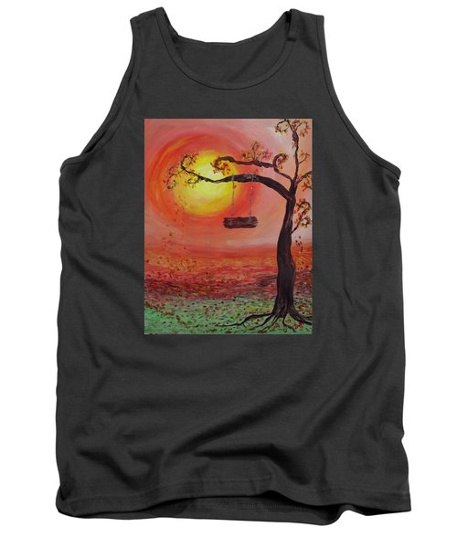 Swing Into Autumn Tank Top by Barbara McDevitt