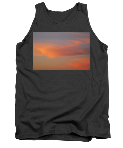 Swirling Clouds In Evening Tank Top