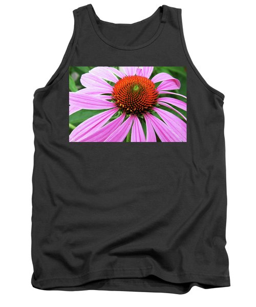 Swirling Purple Cone Flower 3576 H_2 Tank Top