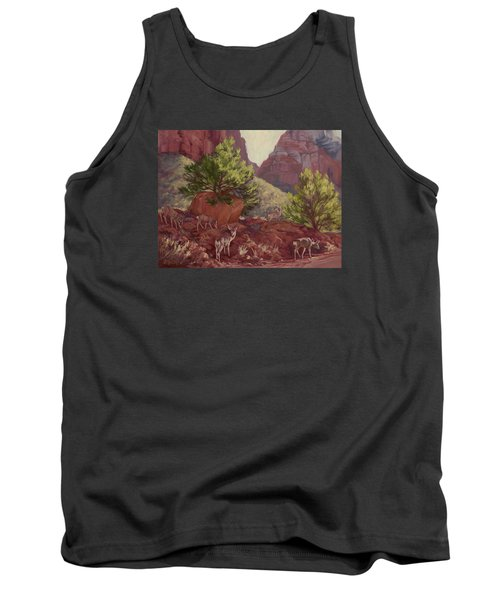 Switchback Stop For Wildlife Tank Top by Jane Thorpe