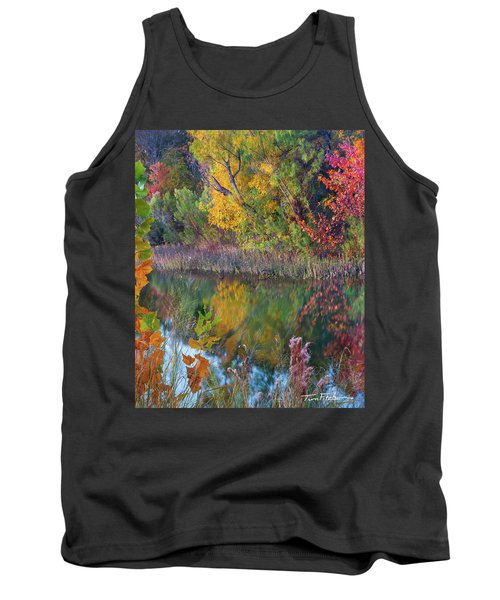 Sycamores And Willows Tank Top by Tim Fitzharris