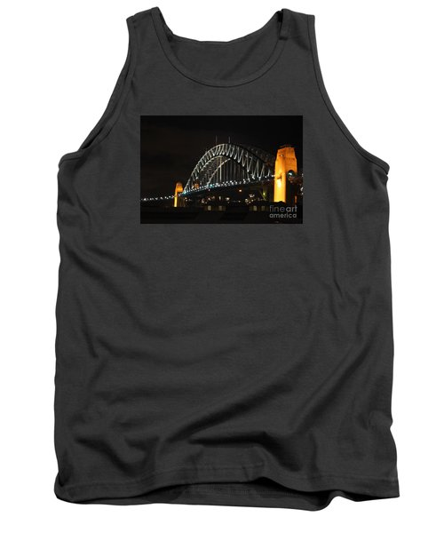 Sydney Harbor Bridge At Night Tank Top by Bev Conover