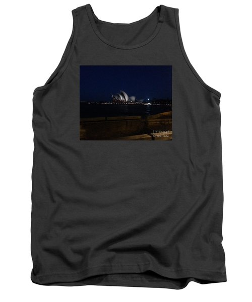 Sydney Opera House At Night Tank Top by Bev Conover