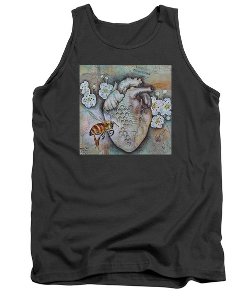 Tank Top featuring the mixed media Synergy by Sheri Howe
