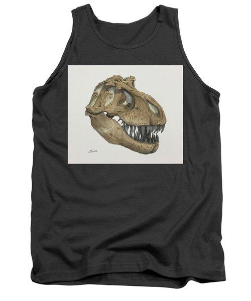 T. Rex Skull 2 Tank Top