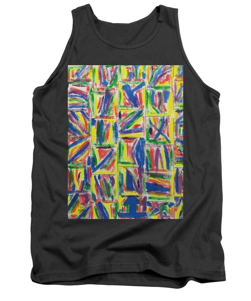 Tank Top featuring the painting Artwork On T-shirt - 009 by Mudiama Kammoh