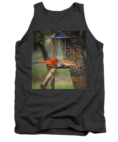 Tank Top featuring the photograph Table For Two by Debbie Karnes