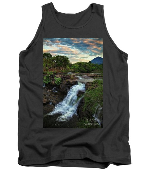 Tad Lo Waterfall, Bolaven Plateau, Champasak Province, Laos Tank Top by Sam Antonio Photography