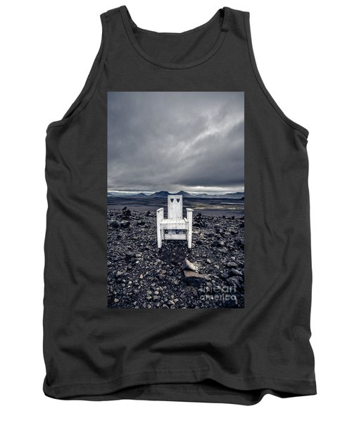 Tank Top featuring the photograph Take A Seat Iceland by Edward Fielding