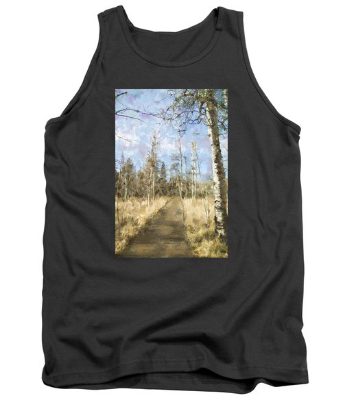 Tank Top featuring the painting Take A Walk by Annette Berglund