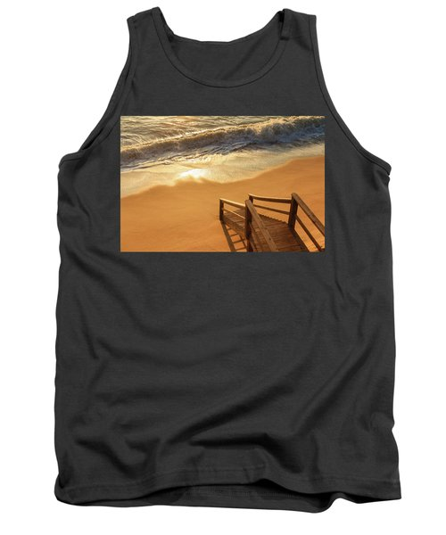 Take The Stairs To The Waves Tank Top by Joni Eskridge
