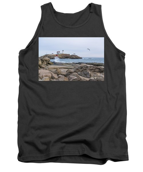 Tale Of Two Lighthouse Tank Top by Patrick Fennell
